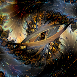 Fractal spiral abstract by Cassy 67 - Illustration Abstract & Patterns ( digital, love, harmony, surreal, abstract art, surrealism, spiral, abstract, fractals, digital art, light, fractal, deep dream, energy )
