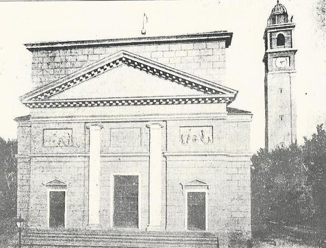 Duomo di San Donà del 1842 distrutto nell'anno di guerra 1917-18
