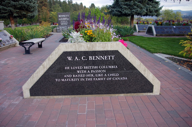W.A.C. Bennett  He loved British Columbia with a passion and raised her, like a child to maturity in the family of Canada