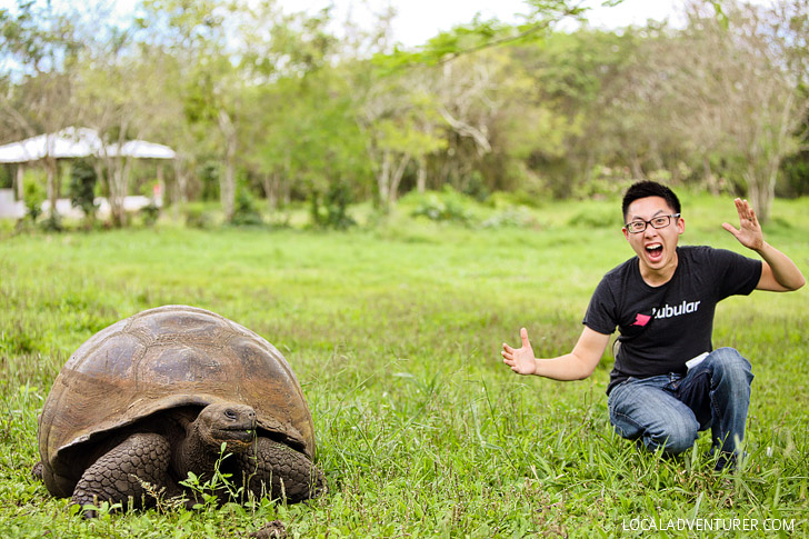 Visiting the 100 Year Old Tortoise in Galapagos Island Santa Cruz.