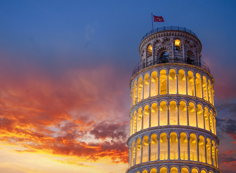 Tower Pisa Sunset