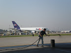 Fed Ex Terminal - Indianapolis Airport - Applying FAA Approved  Sealer