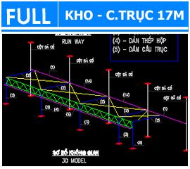 Hồ sơ Kho có cầu trục 17m