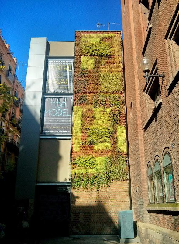 Muro verde Barcelona