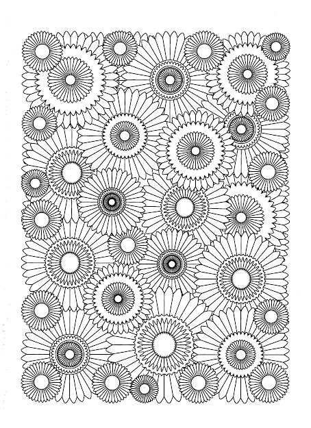 Free Coloring Page Coloringadultsunflower