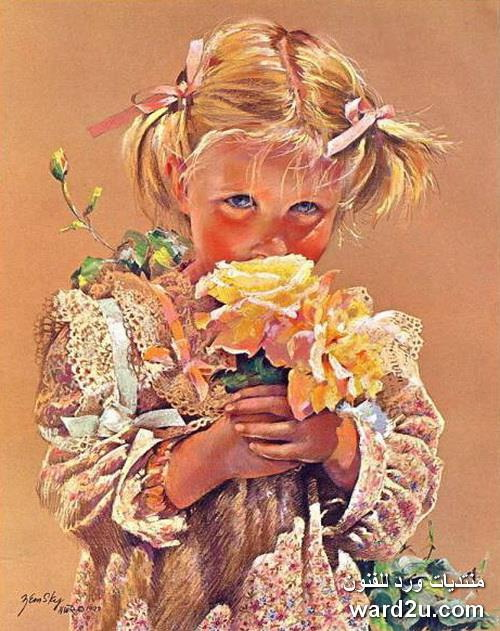 دفء العاطفة وصدق التعبير فى لوحات الفنانة Jessica Zemsky