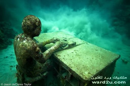 معرض نحت فى قاع البحر للنحات Jason deCaires Taylor