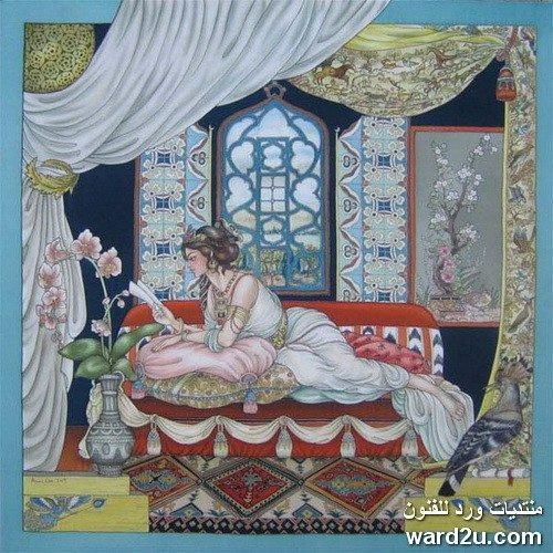 تقنيات شرقية والهامات غربية فى لوحات الفنانة Anne Lan