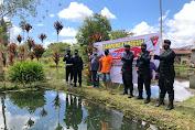 Kampung Tangguh Binaan Brimob Kompi 3 Bener Meriah, Lepaskan 5000 Bibit Ikan Nila
