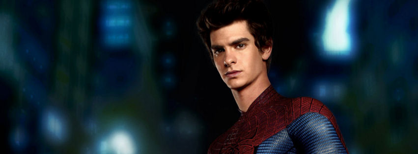 Andrew Garfield in amazing spider man facebook cover