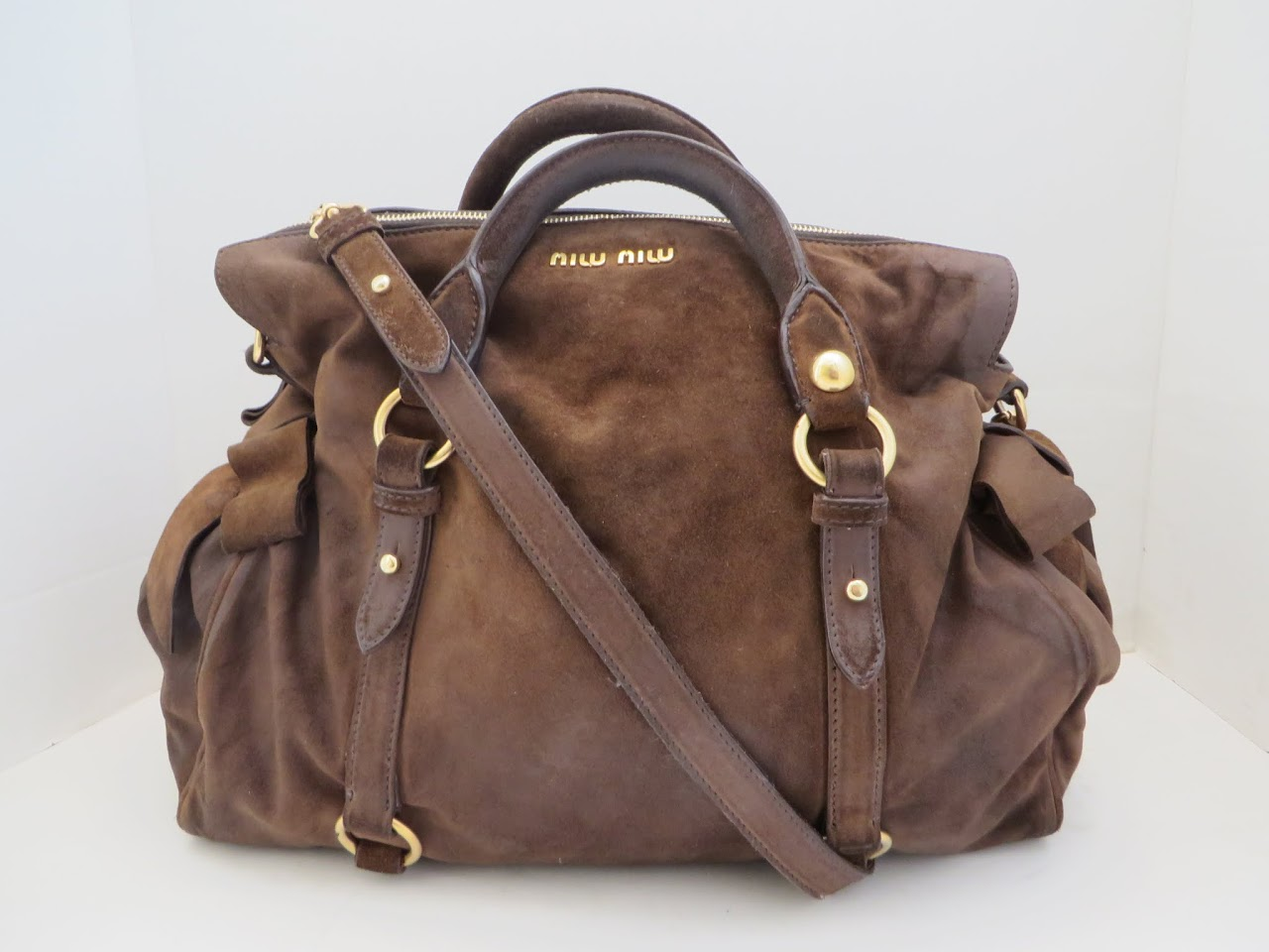 Miu Miu Brown Suede Bag