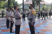 AKBP Aries Pimpin Upacara Serah Terima Jabatan di Lapangan Apel Mapolres Subang