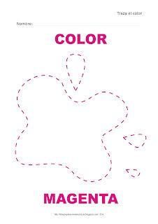 Dibujo para delinear y trazar el color magenta