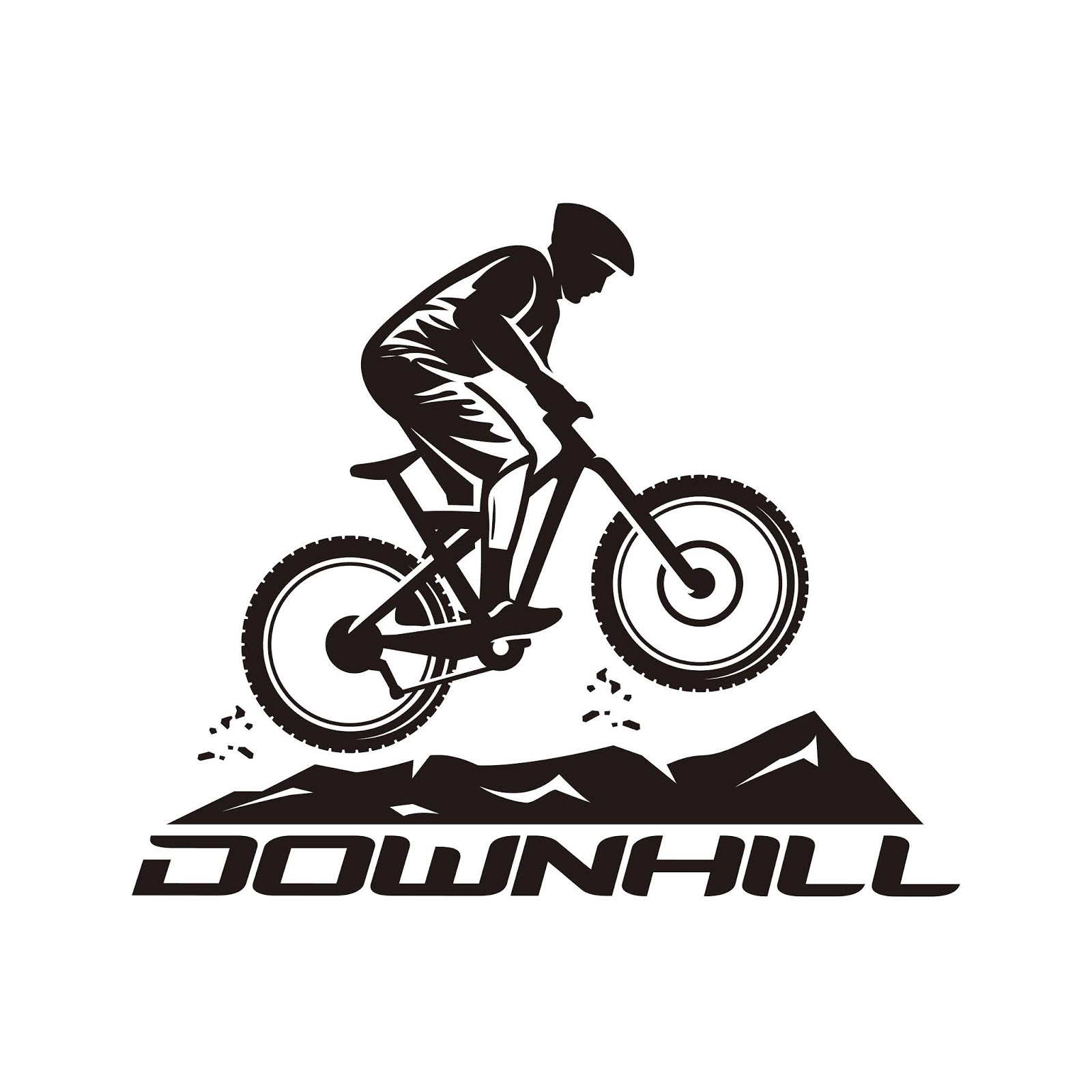 Downhill Vector Logo Template Free Download Vector CDR, AI, EPS and PNG Formats