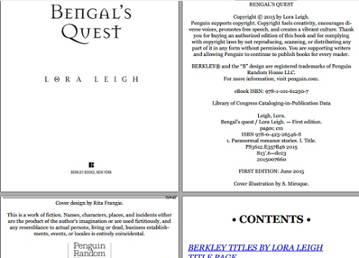 Bengal's Quest free ebook