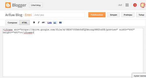 embed PDF Blogger 17