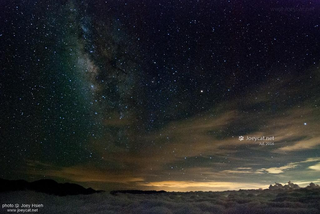 夏季銀河 武嶺 雲海