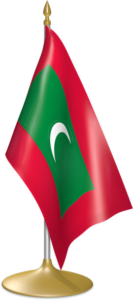 Maldivian table flags - desk flags