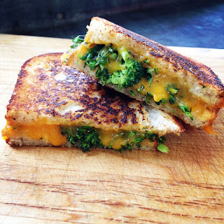 Grilled Cheese With Roasted Broccoli