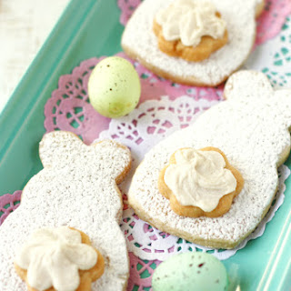 Easter Bunny Cut Out Sugar Cookies (Gluten Free and Vegan).