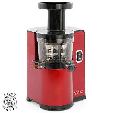 Соковижималка вертикальна SANA Juicer by Omega EUJ-808  red pearl white