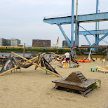 Amsterdam Roest Beach in Amsterdam, Noord Holland, Netherlands