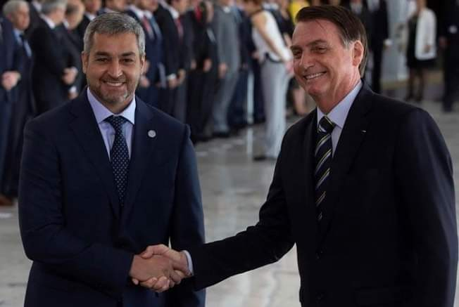 Bolsonaro e Mario Benitez