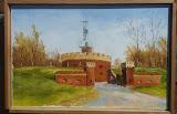 Fort Anioła, olej, płótno, szpachla, 27/41 cm