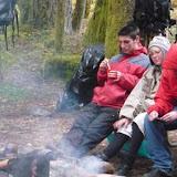 Lazing around the fire