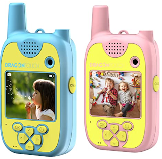 Kid friendly walkie talkies with touch screen