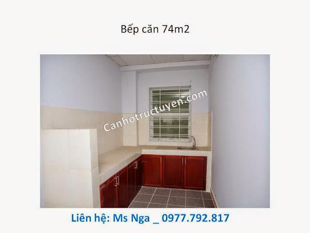 bếp căn 74m chung cư man thiện