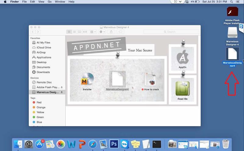 Hướng Dẫn Cài Thiết Kế 3D Marvelous Designer4 Trên Mac OS 3