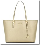 Michael Michael Kors Pale Gold Saffiano Leather Tote