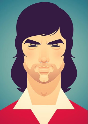 George Best Portrait by Stan Chow