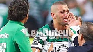 Slimani a quitté le stade en larmes