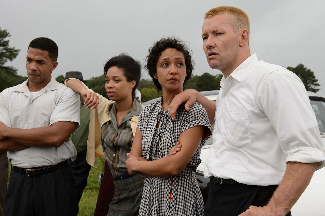 Ruth Negga as Mildred Loving and Joel Edgerton as Richard Loving in LOVING. (Photo courtesy of Focus Features).