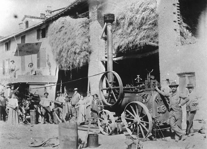 locomobile - trebbiatura del grano - preta da ciadina