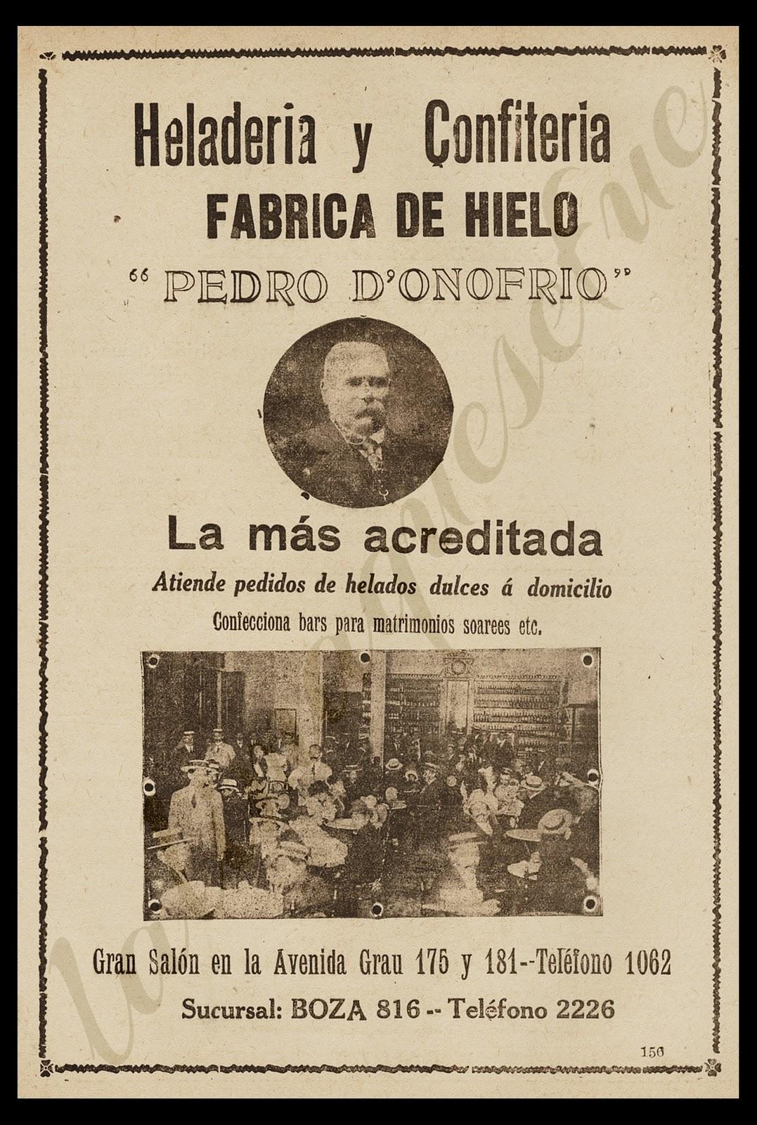 La Lima Que Se Fue  PUBLICIDAD  Heladeria y
