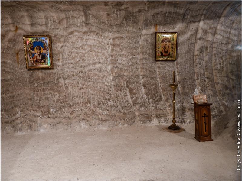 Подземная церковь в Соледаре для шахтеров