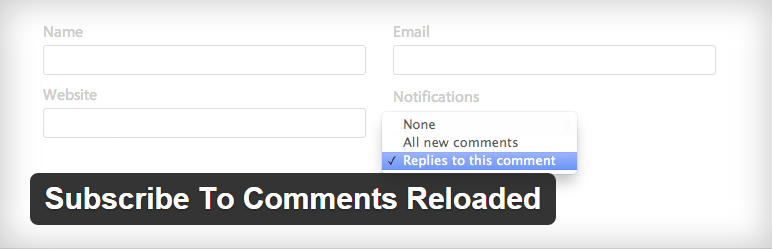 Plugins WordPress: Subscribe To Comments Reloaded