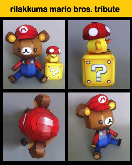 Rilakkuma Super Mario Papercraft