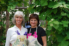 Nancy Bromley and Cynthia Seymour, hostesses at the Makens garden.