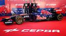 Launch Scuderia Toro Rosso STR9 with Jean-Eric Vergne, Daniil Kvyat &CEPSA representative Alfonso Escamez