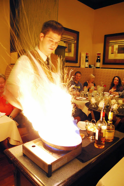 Cinnamon adds a few sparks to the tableside preparation of bananas foster at The Steakhouse / Credit: Bellingham Whatcom County Tourism