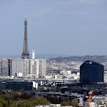 Observatoire de Meudon : vue sur la Tour Eiffel depuis la Terrasse