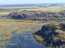 Wetlands on the edge of the escarpment
