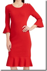 Lauren Ralph Lauren Red Bell Sleeve Dress