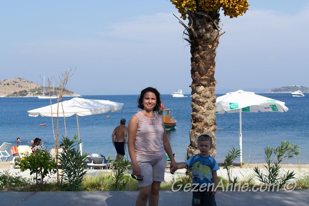 Türkbükü sahilinde