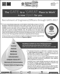 IOCL Engineers Officers GATE 2017 www.indgovtjobs.in