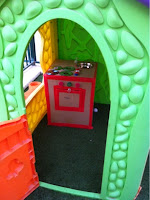 DIY recycled play kitchen